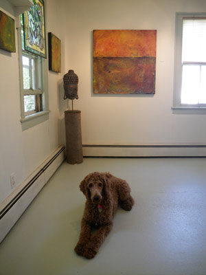 Max in the gallery
